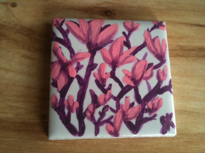 Magnolias fridge magnet