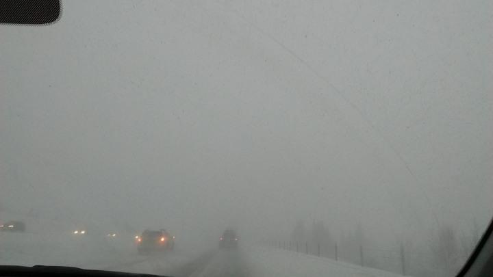 Highway snowstorm