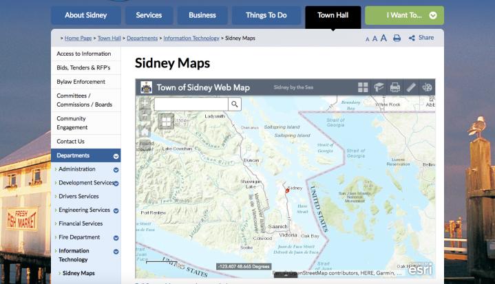 Sidney Map