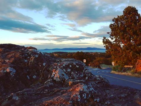 Sunset on Mount Tolmie
